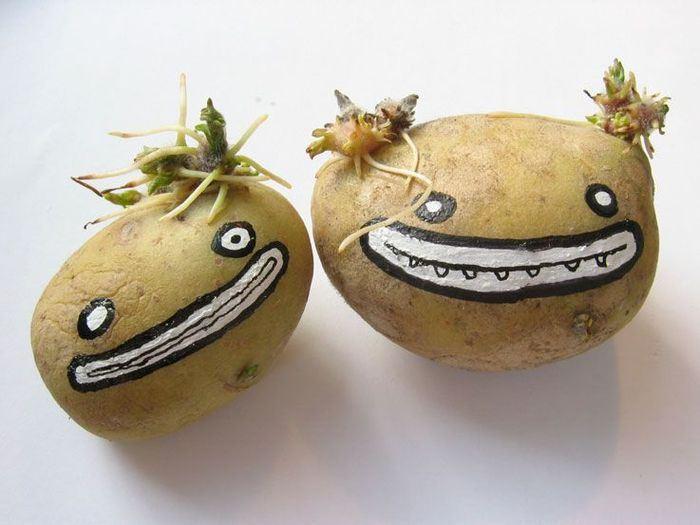 Картошка прикольные рисунки