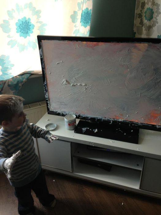 Разбил телевизор смешные картинки