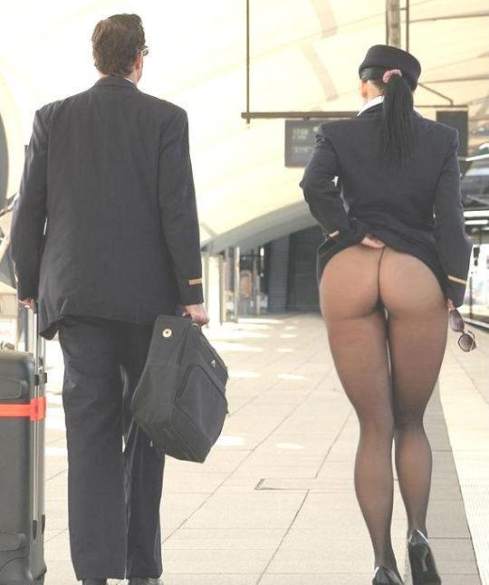 Попа стюардессы фото